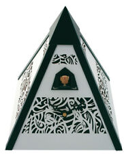 Black Forest Modern Art Cuckoo Clock Pyramid white NEW