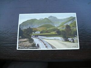 """VALENTINE's Postcard of """"Langdale Pikes & Dungeon Ghyll Hotel"""""""