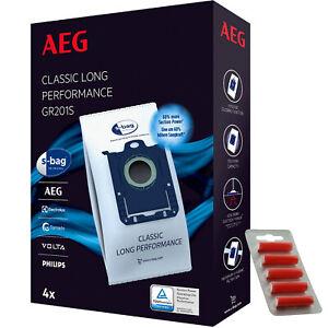 AEG ELECTROLUX Vacuum Cleaner Dust Bags GR201S s-bag 9001684746 x 4 + Fresh