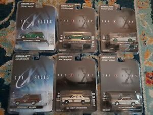 The X-files Greenlight Hollywood 6 Car Lot (Includes 3 Chase Cars)