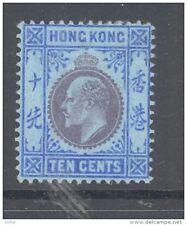 HONG KONG, 1907 10c ultramarine very fine MM, cat £45 (D)