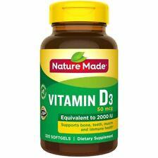 Nature Made Vitamin D3 50mcg 2000 IU 320 Softgels