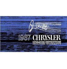 Factory Owner's Manual for 1967 Chrysler