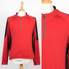 Gru da Uomo Marca Rosso e Nero Strada Bicicletta Manica Lunga Ciclismo in jersey Camicia XL
