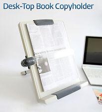 Actto Desktop Book Copyholder Adjustable Angle Easy on Eyes Beige PVC