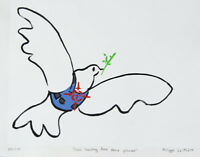 Philippe LE MIERE Pablo banksy dove peace picasso original signed painting art a