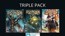 Bioshock Triple Pack  1 & 2 Remastered, 3 Infinite PC [NEW STEAM KEY]