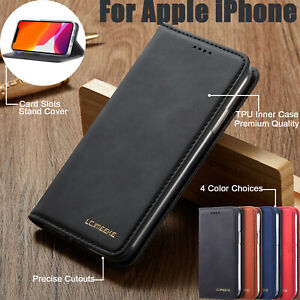 Leather Wallet Flip Stand Phone Case Cover For iPhone 12 11 XS XR 8 7 Plus 6s SE