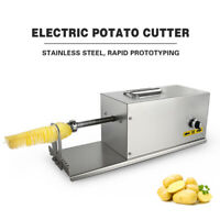 Electric Auto Twister Spiral Tornado Potato Cutter Slicer Stainless Steel CE