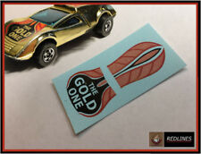 1977 Hot Wheels Redline 'Buzz Off' GOLD Decal SCR-0246