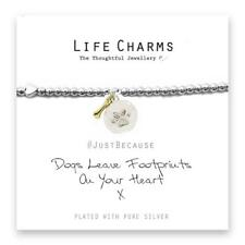 Life Charms Dogs Leave Footprints On Your Heart Bracelet
