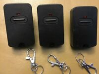 GTO RB741 GATE OPENER, MIGHTY MULE FM135 BLACK TRANSMITTER REMOTE CONTROL 3pack