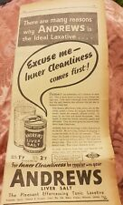 Andrews Liver Salt 1941 Advertisement