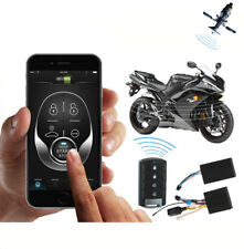12V Anti-theft Motorcycle GPS Tracker Alarm Remote Engine Start Stop Android iOS