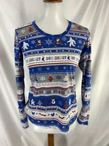 Brooks Womens Running Distance Santa Graphic Long Sleeve Top Nwt Small