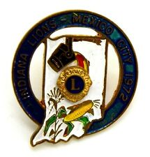 Pin Spilla Lions International Indiana Lions -Mexico City 1972 (Breadner Canada)