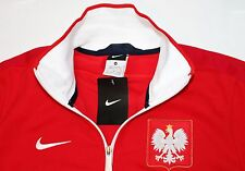 NIKE Poland Red White Soccer Track LIMITED EDITION Zip Lined Jacket M