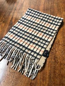 Vintage Wool DAKS Scarf with Classic DAKS Check Patern