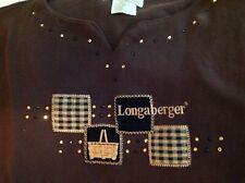 Longaberger Market Basket Embroidered & Sequins Misses top Large Homestead Cute