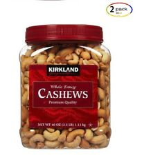 ( 2 Pack) Kirkland Roasted and Salted Cashews, 2.5 lbs.
