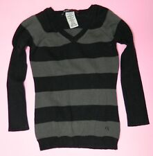 GUESS JEANS girls Black Gray STRIPE Cotton Sweater TOP* 4T 4