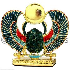 Gold Plated Scarab Collectible Figurine EGYPTIAN TREASURES FREE S&H