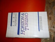1985 Plymouth Horizon Turismo Original Factory Operators Owners Manual Clean