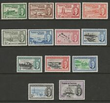 Turks & Caicos Is.1950 George VI Complete set SG 221-233 Mint.
