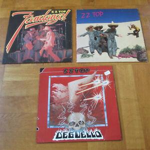 ZZ Top: 3 x LP (Fandango!, El Loco, Degüello) 70er Jahre