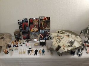 Star Wars Mixed Lot New Used Action Figures Vehicles Weapon Micro Action Fleet +