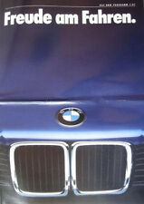 Prospekt BMW Modellprogramm 1987 - 1/87  3er E30 5er E28 6er E24 7er E23