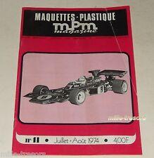 MAQUETTES PLASTIQUE MPM Magazine N°41 1974 : MESSERSCHMITT - John PLAYER Special