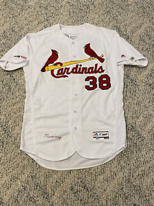MLB Authenticated - Jose Martinez White Jersey Issued By St. Louis Cardinals