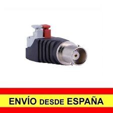 Adaptador Macho Coaxial RF BNC CCTV Enchufe Rapido pulsador Tira LED a4092