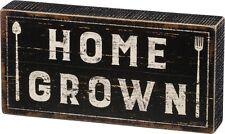 "NEW!~WOOD BOX SIGN~""HOME GROWN""~Country Farmhouse Farm to Fork~Plaque/Farmer"