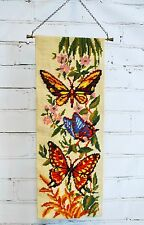 """BUTTERFLIES BELL PULL ROYAL PARIS PENELOPE NEEDLEPOINT CANVAS BUTTERFLY MCM 19"""""""