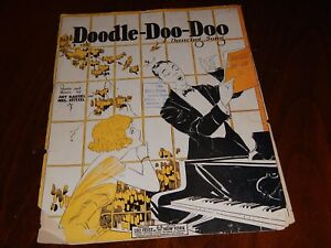 Doodle-Doo-Doo - 1924 sheet music, A Dancing Song - not a photo cover
