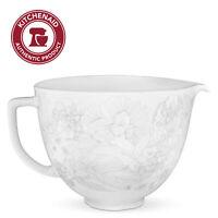 KitchenAid 5 Quart Whispering Floral Ceramic Bowl, KSM2CB5PWF