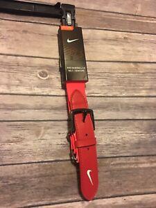 "Brand New Nike Adult Baseball Belt 2.0 Waist 28"" to 43"" Red/ Orange Heavy Duty"
