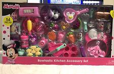 Disney's Minnie Mouse Bowtastic Kitchen Accessory Set 54 Pieces mini food