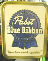 VINTAGE PABST BLUE RIBBON BEER BREWING CO DISPLAY ADVERTISING SIGN MILWAUKEE WI