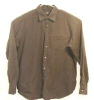 Hugo Boss Dress Shirt Mens Black Cotton Long Sleeve Size 17 1/2