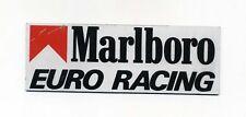 Targa vinile MARLBORO EURO RACING Anni 80 Formula 1 F1 Formule One