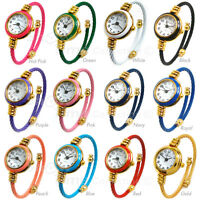 Geneva Cable Band Gold Accent Women's Small Size Bangle Watch
