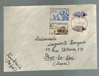 1943 France Cover Waffen SS Foreign Legion Volunteer Stamps with Tabs to Meuse