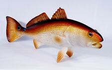 "Hand Painted 28"" Jumbo Redfish Red Drum Game Fish Statue Figurine Sculpture 76R"