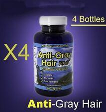 (4) Anti-Gray Hair Pills w/Catalase, Horsetail- Stop Grey Hair- 120 day supply