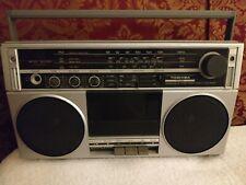 TOSHIBA RT-80S BOOM BOX TAPE AND RADIO PLAYER POWERS ON/RADIO Works -