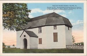 WB postcard, Fagley - The Old Trappe Church, Trappe, PA