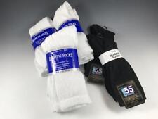 13 pairs of DIABETIC LOOSE TOP Men's Socks - 8 White Athletic, 5 Black Dress NEW